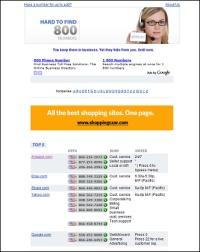 HardToFind800Numbers.com