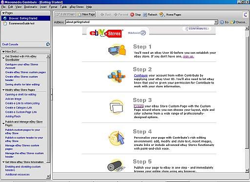 Macromedia Contribute 3 for eBay