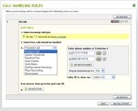 Call-handling screen shot