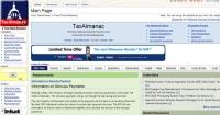 TaxAlmanac.org screen shot