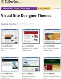 Coffee Cup Visual Site Designer. Web design templates
