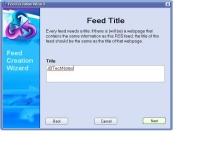 Create an RSS Feed screen shot