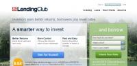 LendingClub.com screen shot; small business technology