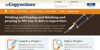 99Copywriters.com screen shot; marketing for small business, web tool