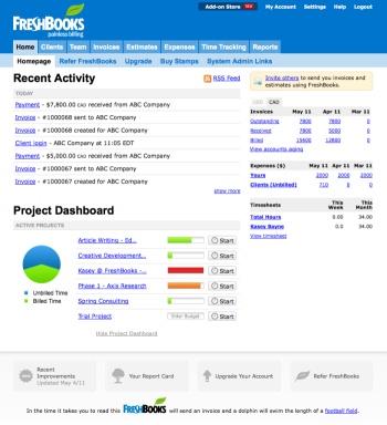 Freshbooks.com; online billing software