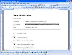 Click-Here field screenshot