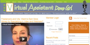 Virtual Assistant Demo Girl; small business marketing, outsourcing
