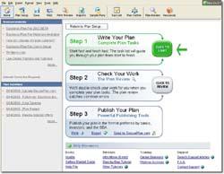 Business Plan Pro 2007 screen shot
