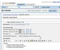 CentralDesktop screen shot