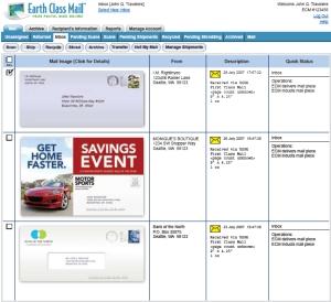 Earth Class Mail screen shot