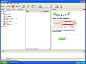 BackMaster 4.0 screen shot