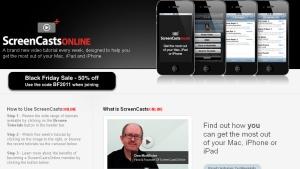 Screen shot of ScreenCastsOnline.com homepage