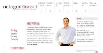 screen shot of OctagonFirstCall.com website