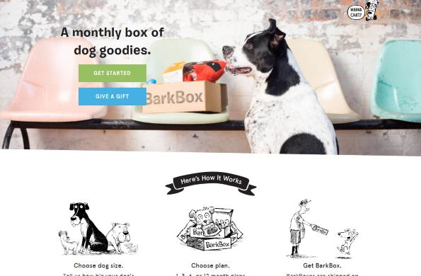 BarkBox: a subscription box service
