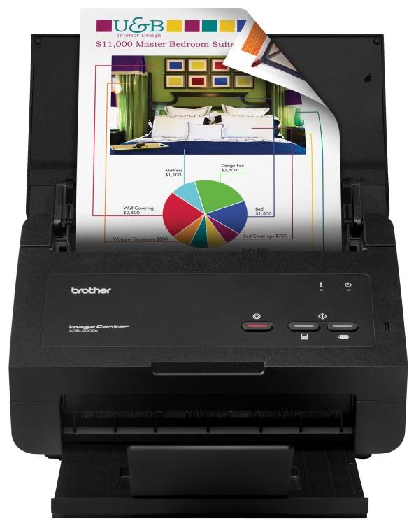 Sheet-fed document scanner: Brother ImageCenter ADS-2000e