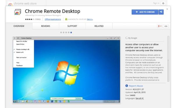 Chrome Remote Desktop remote access