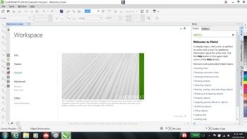 CorelDraw X7: Welcome Screen