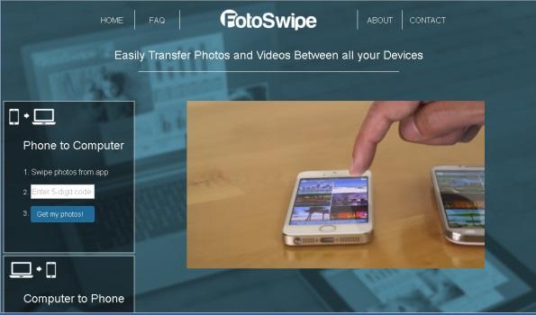 FotoSwipe mobile photo-sharing app