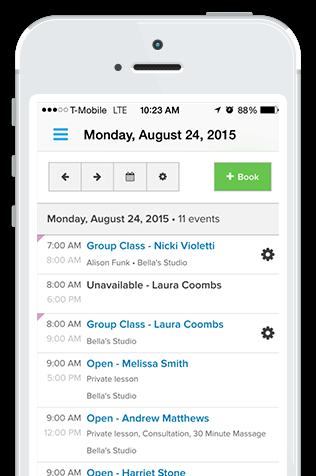 mobile schedulingn software; client management software