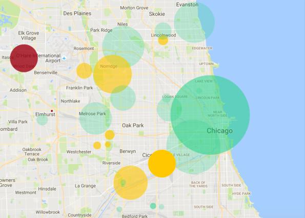 Spiceworks Internet Outage Heatmap
