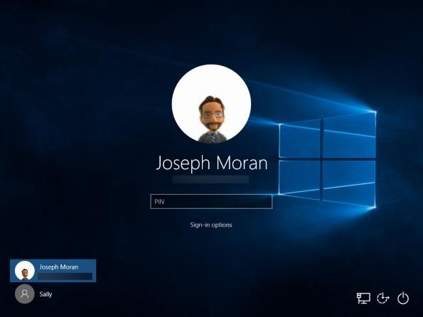 PIN login to Windows 10