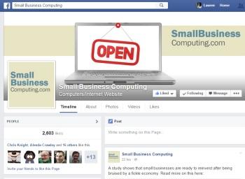 SmallBusinessComputing.com's Facebook page