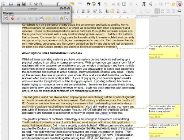 LibreOffice productivity suite: Track changes