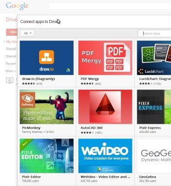 Google Drive: apps
