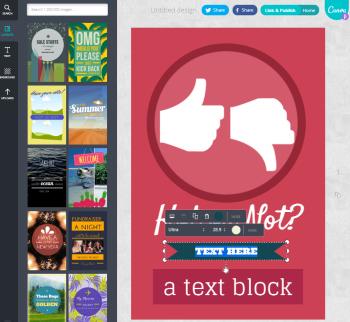 Canva: social media graphic image tool