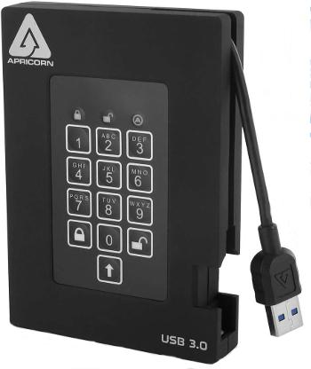 Aegis Padlock Fortress USB SSD external hard drive