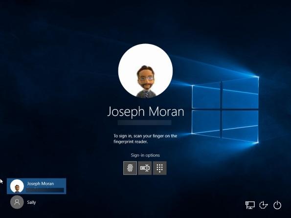 Windows 10: Fingerprint login alternative