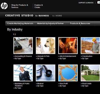 small business marketing: HP Creative Studio