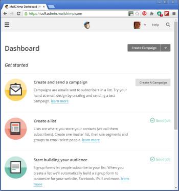 Email marketing service: MailChimp