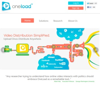 use Oneload.com to post videos on multiple sites