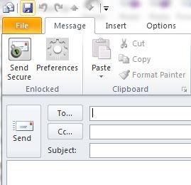 Enlocked Outlook plug-in
