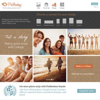 PicMonkey: social media graphics tool