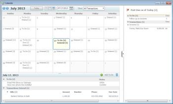Intuit QuickBooks calendar