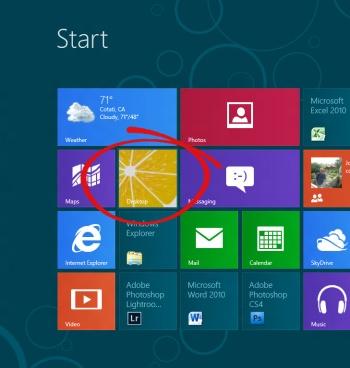 Windows 8 Desktop Start