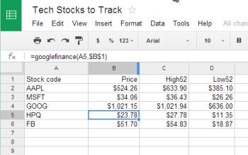 Google Drive: stock