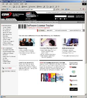 CDW's Software License Tracker