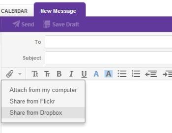 Yahoo and Dropbox integration