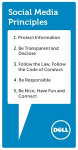 dell's social media principles
