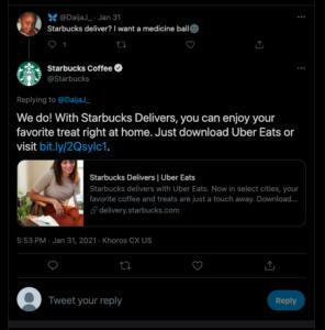 starbucks social media customer service