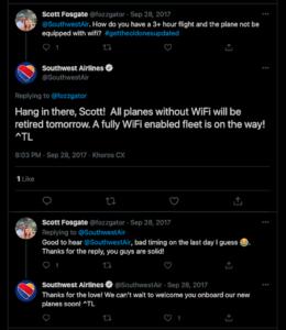 southwest social media